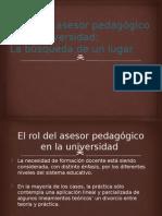 El rol del asesor pedagógico en la universidad.pptx