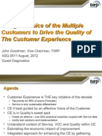 Using VOC to Drive Customer Experience Quality.ppt