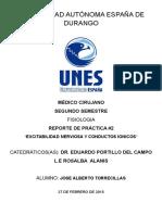 EXCITABILIDAD NERVIOSA Y CONDUCTOS IONICOS