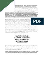 Umbi Bawang Tiwai