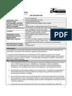 CCTV Supervisor 20121010 Job Description