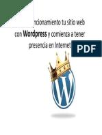 CAMON Las Cigarreras. Materiales. Presentacion curso Pon en funcionamiento tu sitio web con Wordpress