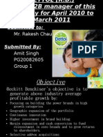 Business to Business Sales Forcast of DETTOL