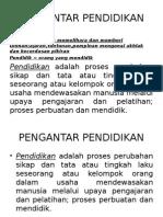 PENGANTAR PENDIDIKAN 1
