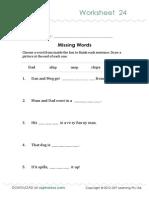 Oz Phonics Worksheet 24