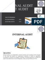 Internal Audit and Cost Audit