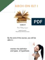 Lecture 2d Hypothesis