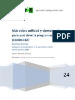 CU00104A Mas Utilidad de La Programacion Ejemplos Para Que Sirve