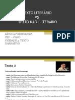 TEXTO LITERÁRIO vs Nao Literario