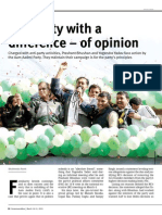 The party with a difference – of opinion