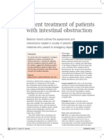 Urgent Treatment of Patients With Intestinal Obstruction