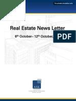 Real Estate Weekly News Letter 6 October 2014- 12 October 2014