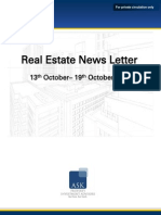Real Estate Weekly News Letter 13 October 2014- 19 October 2014