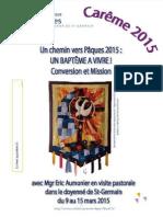 Doyenné St-Germain, Visite Pastorale 2015, LIVRET