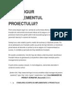 Cum Asigur Managementul Proiectului