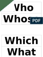 interrogative pronoun