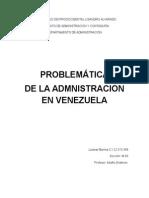 Problemática de La Admnistracion en Venezuela