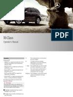 Mercedes-Benz M-Class 2009 – Operator's Manual
