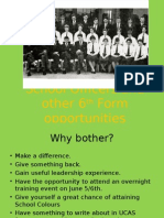 School Officers and Other 6th Form Opportunities 2015