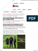 Best Football Manager 2015 Coaches _ Passion4FM.com