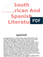 South Ameican and Spanish Literatue