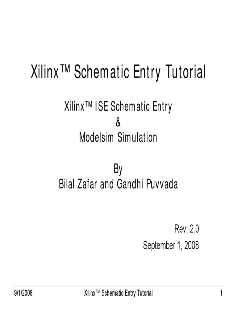 Xilinx Schematic Entry Tutorial r2 | Electronic Engineering ... on