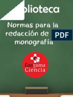 Normas Para La Presentacion Monografia Final