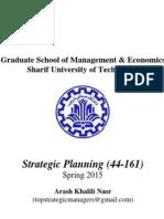 Strategic Planning Lesson Plan