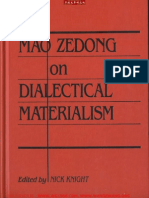 Ebooksclub.org Mao Zedong on Dialectical Materialism Writings on Philosophy 1937 Chinese Studies on China