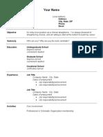 #Entry Level Resume