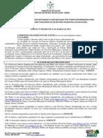 Edital 001.3 - Processo Seletivo 2015 - Contratação de Servidores Para Atuar No Sistema Municipal de Ensino