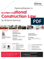 FKW12335 - International Construction Law, Distance Learning
