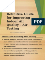 Definitive Guide for Improving Indoor Air Quality - Air Testing