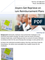 Small Employers Get Reprieve on Health Premium Reimbursement Plans