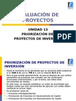 13 Unidad 13 Priorizacion de Proyectos de Inversión