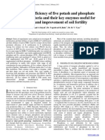 Comparative efficiency of five potash and phosphate solubilizing bacteria and their key enzymes useful for enhancing and improvement of soil fertility