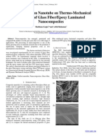 Effect of Carbon Nanotube on Thermo-Mechanical Properties of Glass Fiber/Epoxy Laminated Nanocomposites