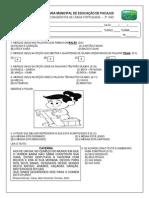 Avaliação Diagnóstica de Língua Portuguesa 3º ano 2015