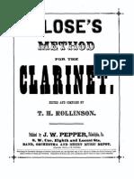 Klose Clarinet Method
