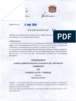 ORD_12_Ordenanza,Administración Conjunta Río Maipo.