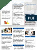 Flyer Masterat Studii de Munca 2014