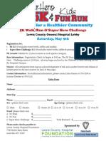 Walk Run Registration Form 2015