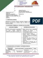 Silabo Planeació y Orgganizacion de empresas Peru