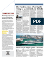 The Heat is on as Miami Gets Ready to Welcome Fiery Debate - Gulf Times 12 March 2015