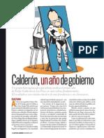 Calderon a Un Año de Gobierno