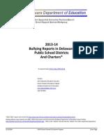 Bullying Annual Report 2013-14