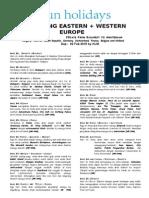 06. 15d - 02feb Amazing Eastern & Western Europe (Visa Swiss)