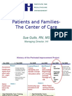 Including the patient's perspective in perinatal quality improvement