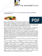 Educatie Alimentara – Vai, Vine Postu