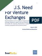 Venture Exchanges - Weild & Kim - 3-4-2015